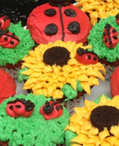 Sunflower Decorated Cupcake at Sweetie Pie and Cupcakes