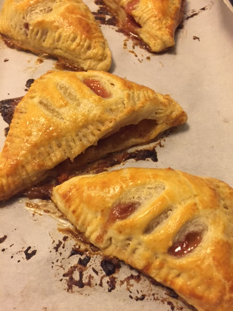 Peach Turnovers made with Puff Pastry