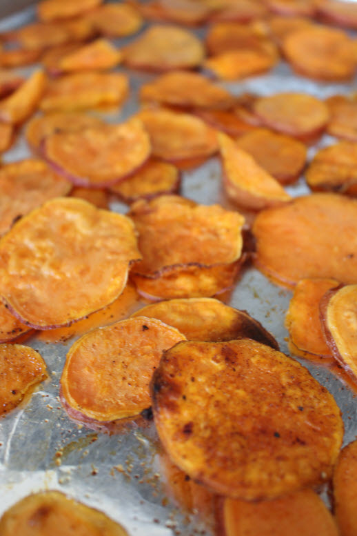 Baking Healthy Sweet Potato Chips