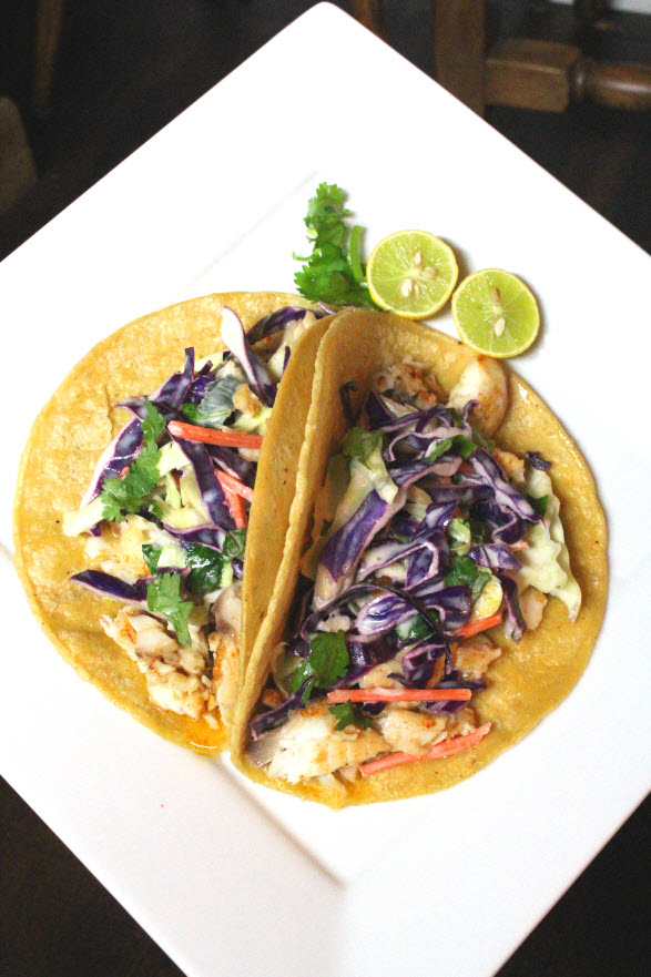 Chili Lime Fish Tacos with Slaw Dressing Recipe