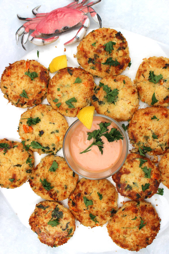 Crab cakes at Sweetie Pie and Cupcakes
