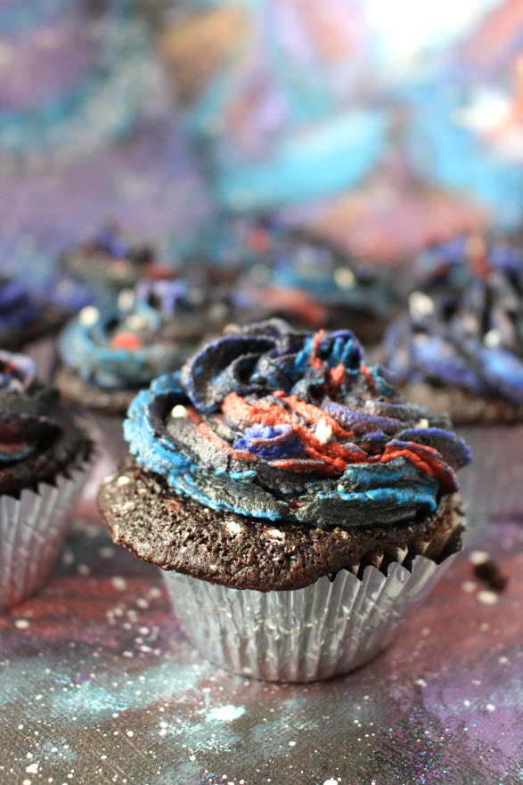 Galaxy Decorated Cupcakes at Sweetie Pie and Cupcakes