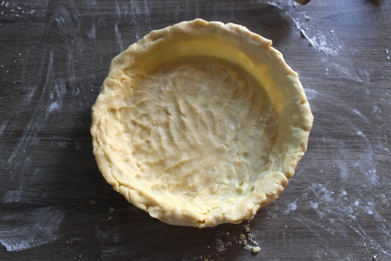 Putting Pie dough in pie plate
