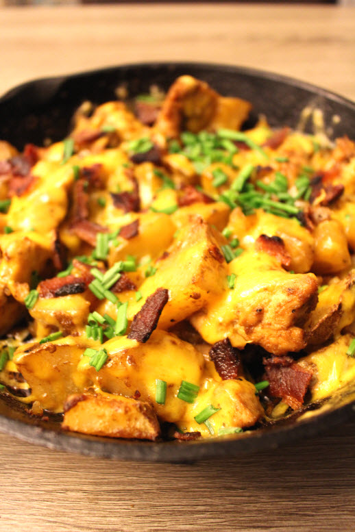 Chicken skillet dinner great for family meal
