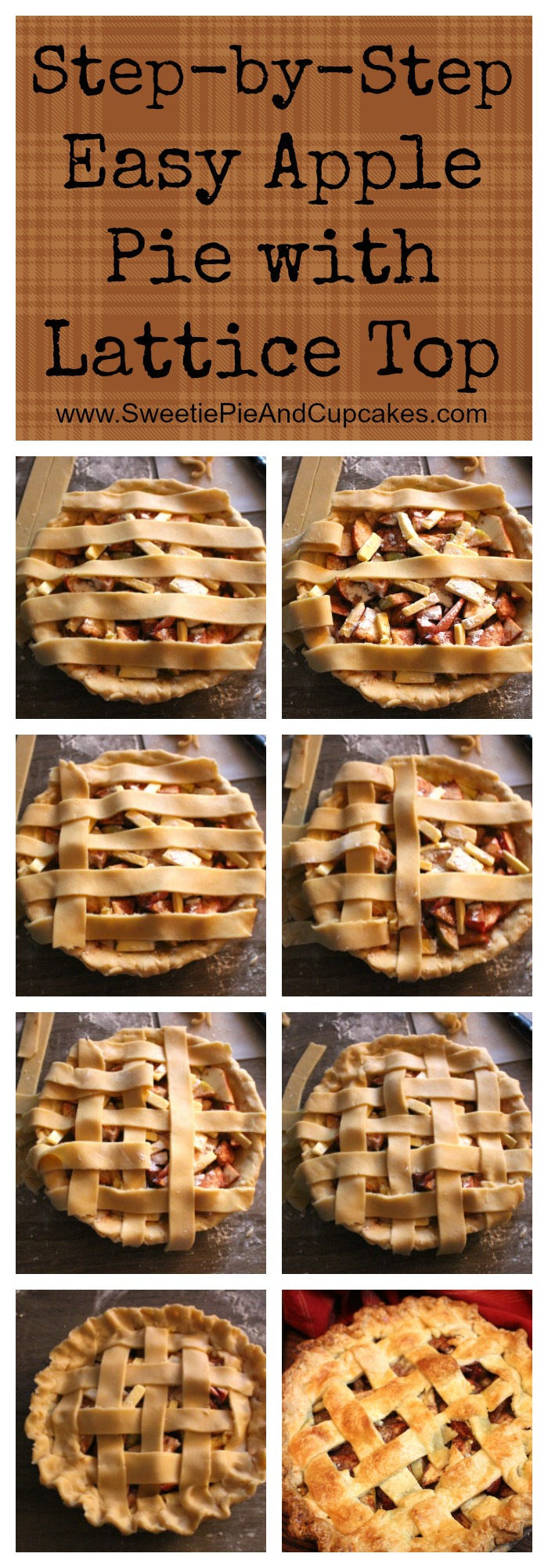 lattice top apple pie pin