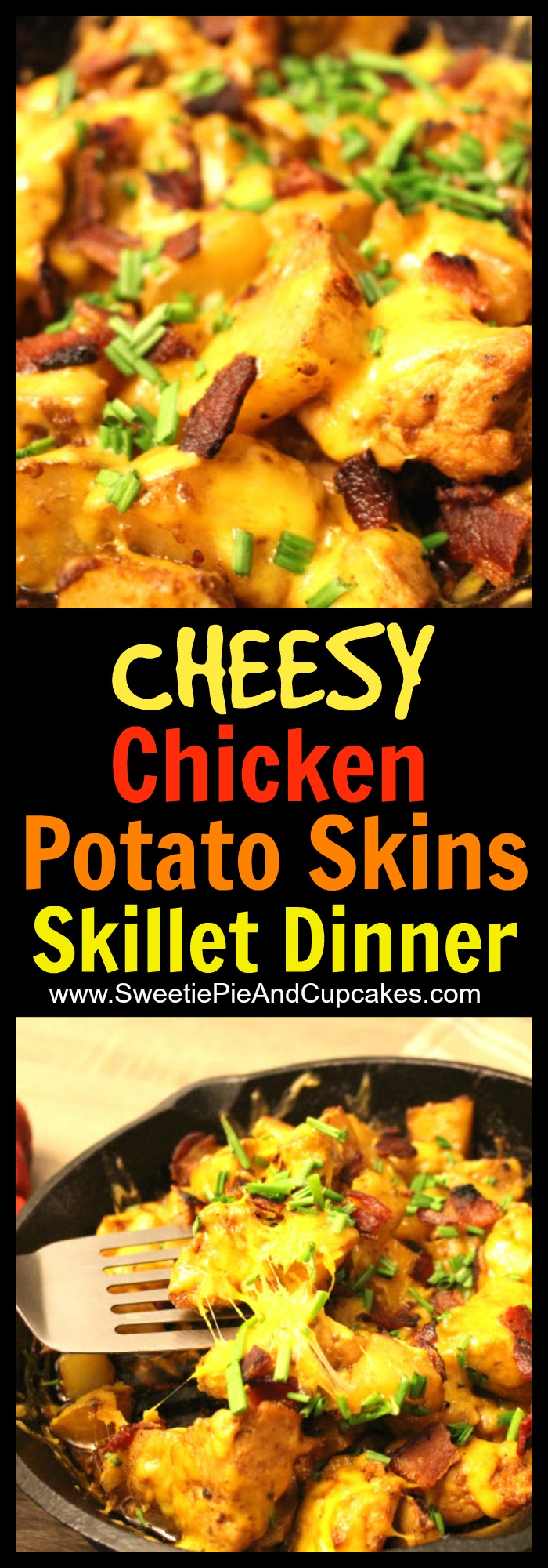 Chicken potato skins skillet dinner recipe at Sweetie Pie and Cupcakes