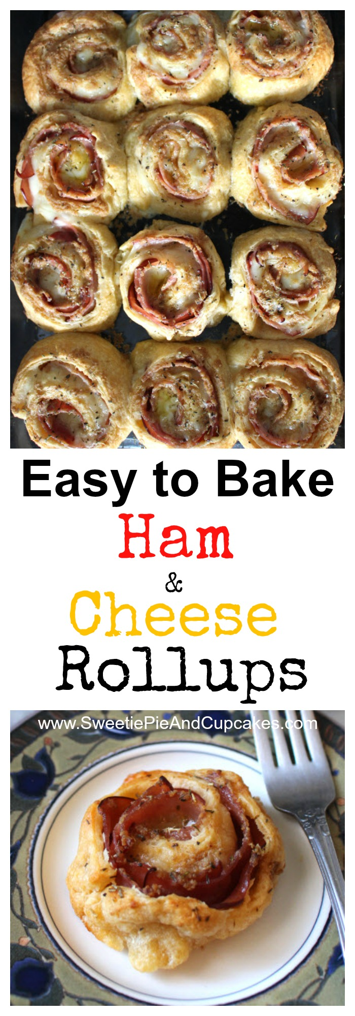 Yummy ham cheese rollups are easy to make and great for parties