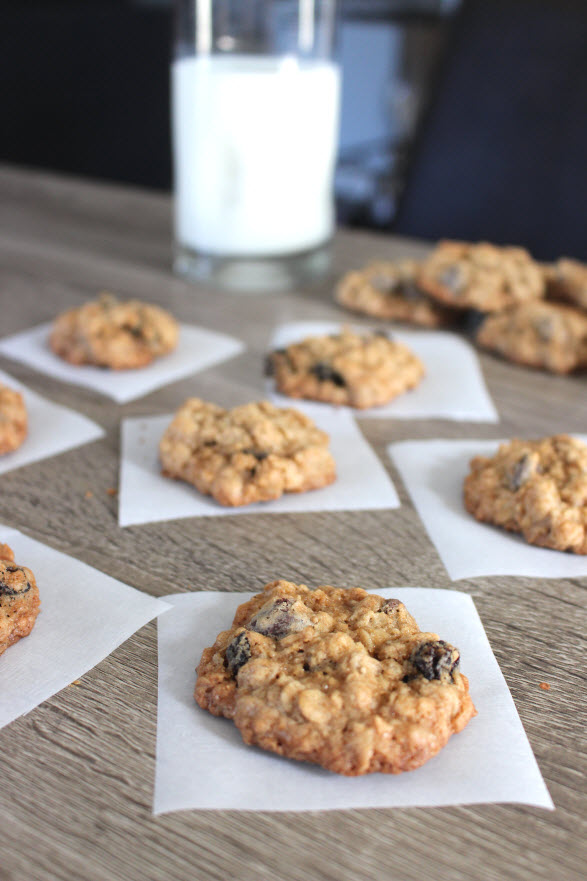 Old Fashioned Chocolate Chip Oatmeal Cookies