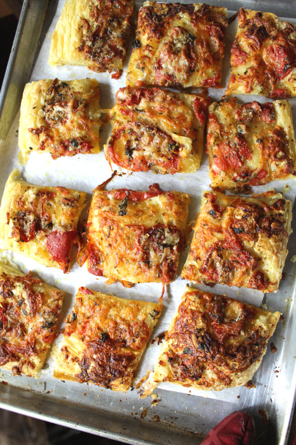 Roasted Tomato Pizza Puff Pastry Treats