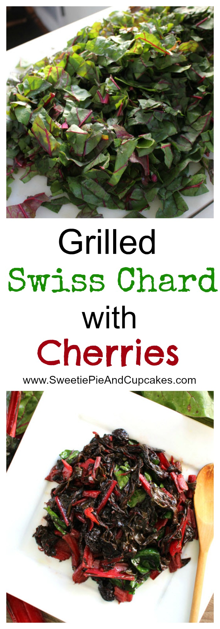 Grilled Swiss Chard with Cherries Pin