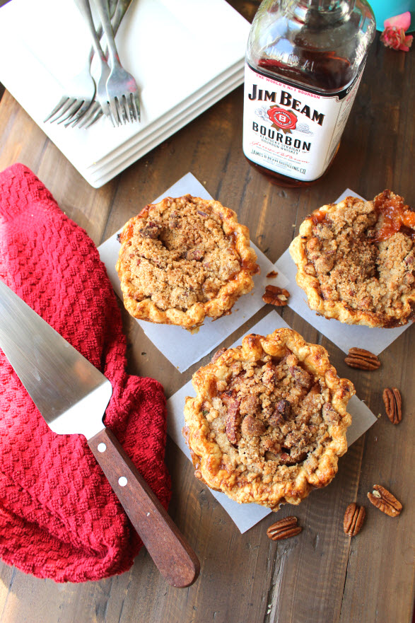 Award Winning Maple Bourbon Peach Pecan Pie