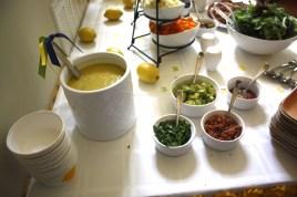Sweet Corn and Cilantro soup