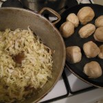 Steam Cabbage and Fried Dumplings