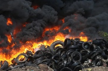 Jamaica Recycles Rubber Tyres!