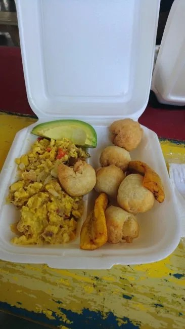 Ackee and Saltfish at Smurfs Cafe