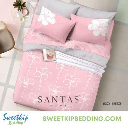 ผ้านวม Santas รุ่น Rosy Breeze ลายดอก สีชมพู
