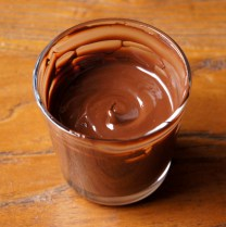 Melt the chocolate, cool