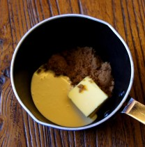 Brown sugar+butter+2tbsp cream