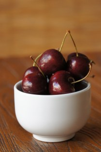 Prep the fresh cherries (optional)