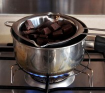 Melt choc over boiling water