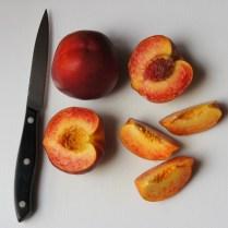 Cut nectarines, remove stones