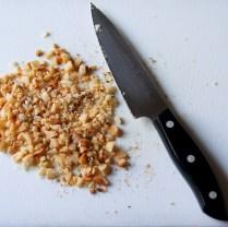 Chop macadamia nuts