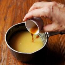 Remove from heat, add vanilla