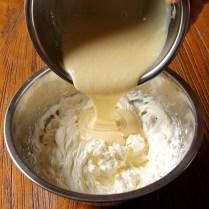 Add white choc mix