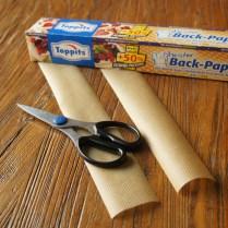 Cut strips of baking paper