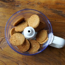 Place biscuits in processor