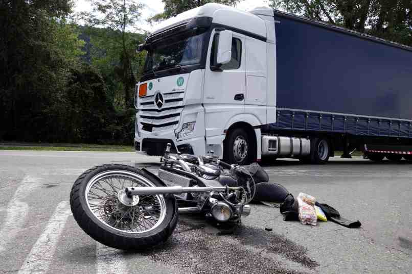 Motorcycle Collision With Truck On 15