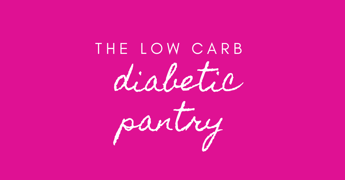 low carb diabetic pantry