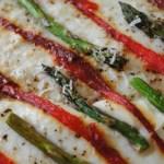 Roasted Asparagus Ricotta Pizza
