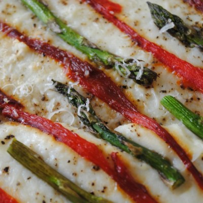Roasted Asparagus Ricotta Pizza