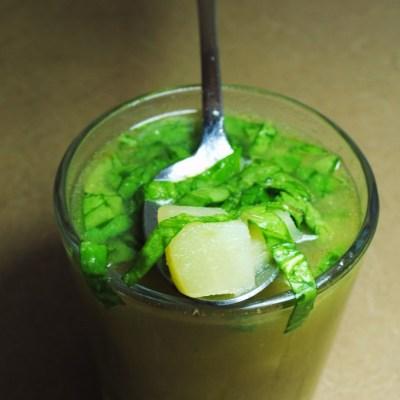 Sopa de Chayote y Espinaca by Chef Thelma Morgan