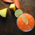 Agua de Zanahoria y Piña