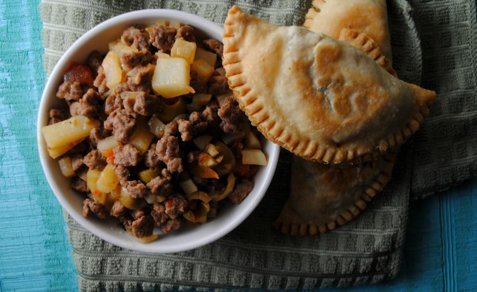 Turkey Picadillo Empanadas  from sweetlifebake.com