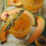 Savory Peach-Melon Cocktail