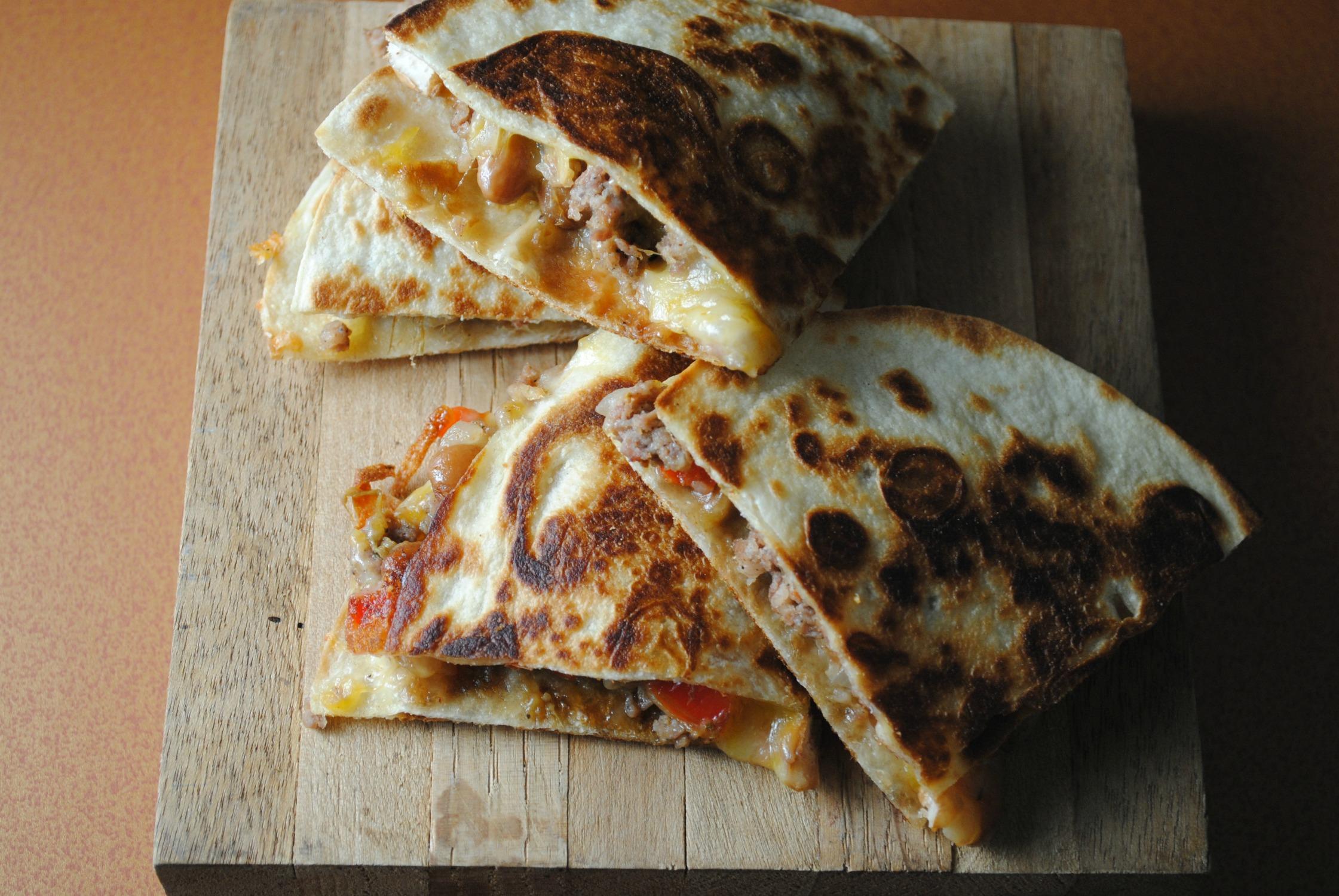 pinto-bean-sausage-quesadillas-VianneyRodriguez