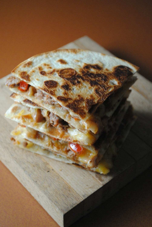 sausage-pinto-bean-quesadillas-VianneyRodriguez