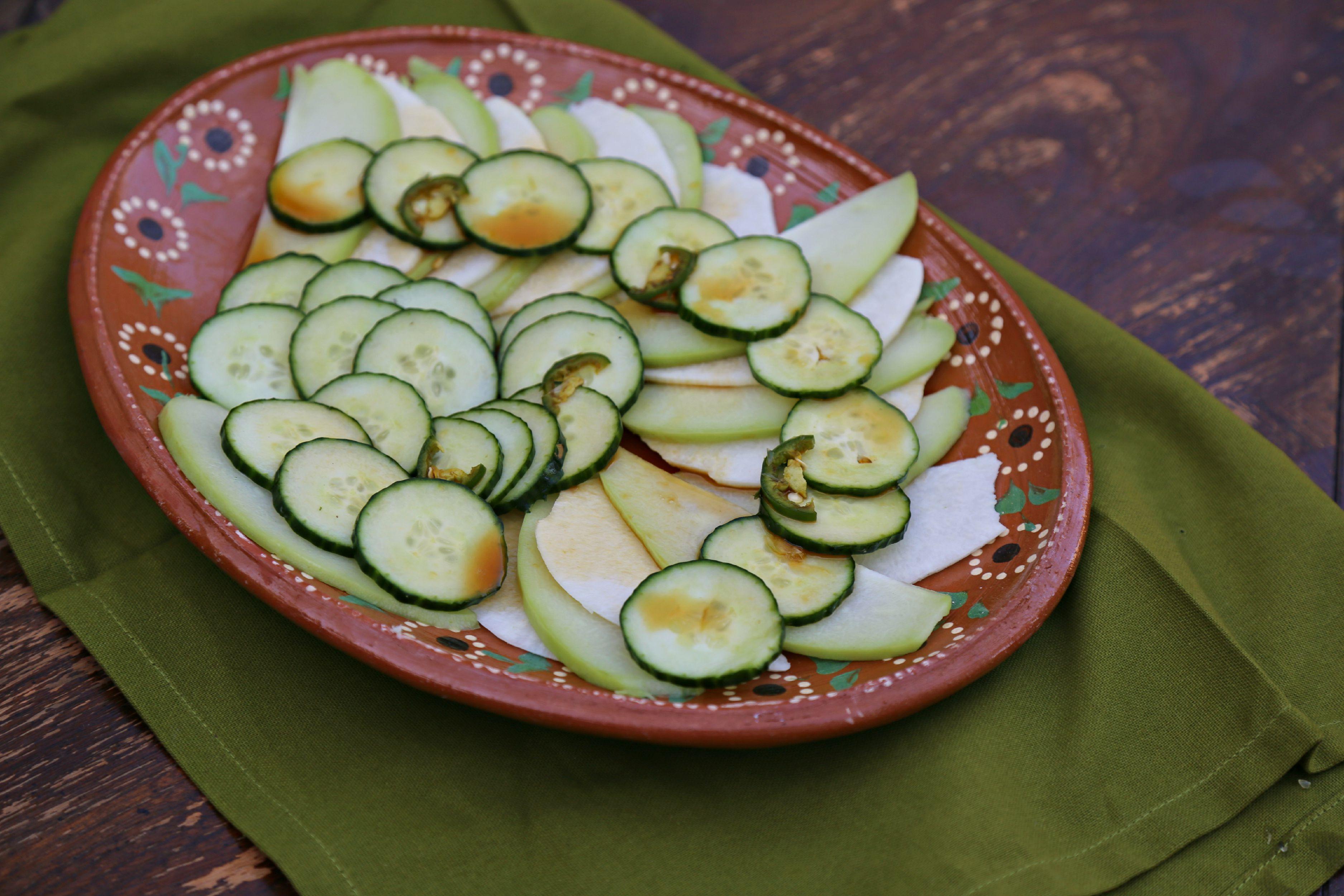 spicy chayote jicama salad sweet life