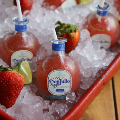 Mini Strawberry Margaritas