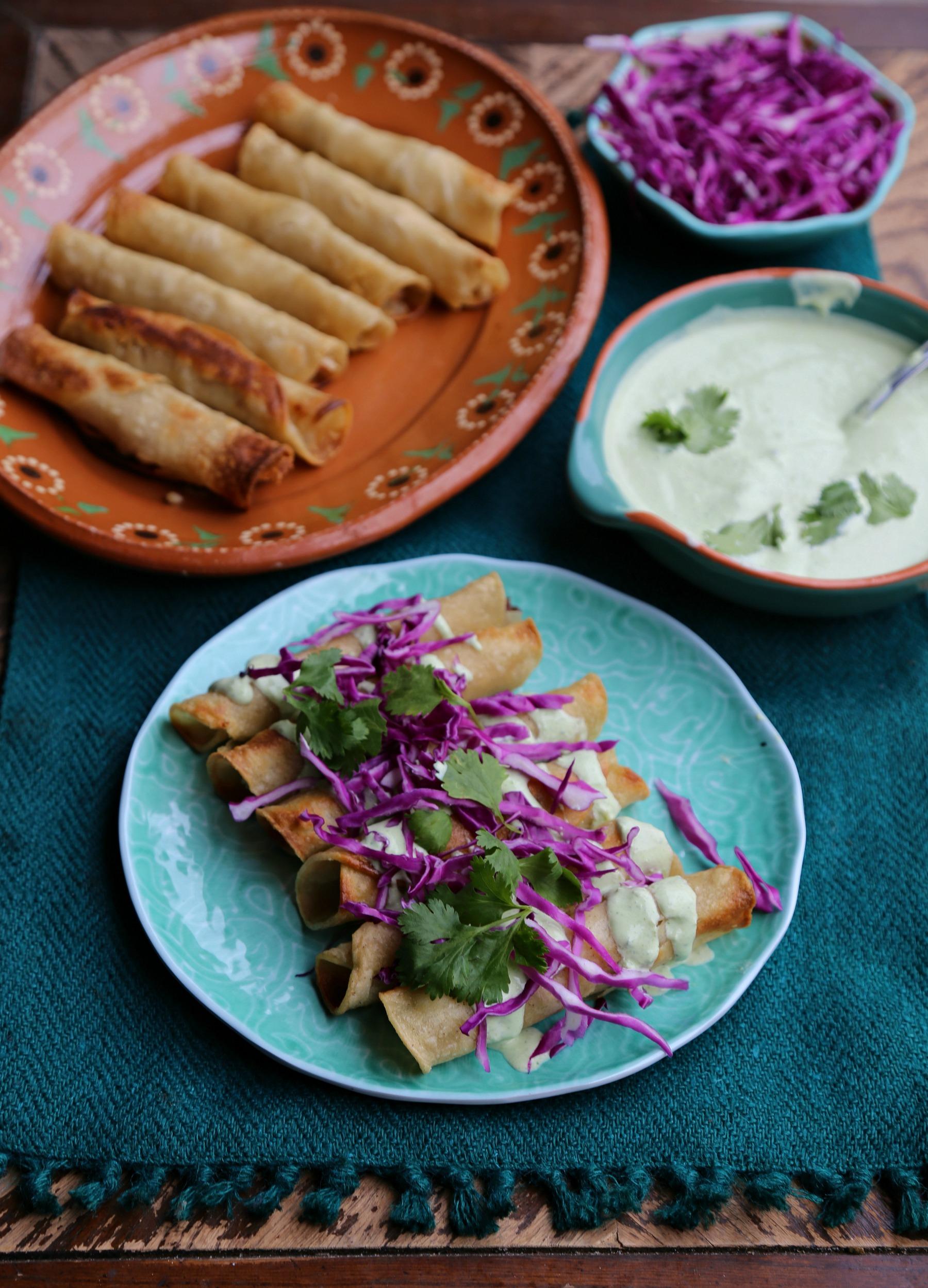 baked-chicken-taquitos-poblano-cream-sauce-vianneyrodriguez-sweetlifebake