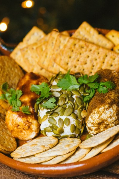 Easy Goat Cheese Appetizer (Pepita, Chipotle, Cumin-Oregano)