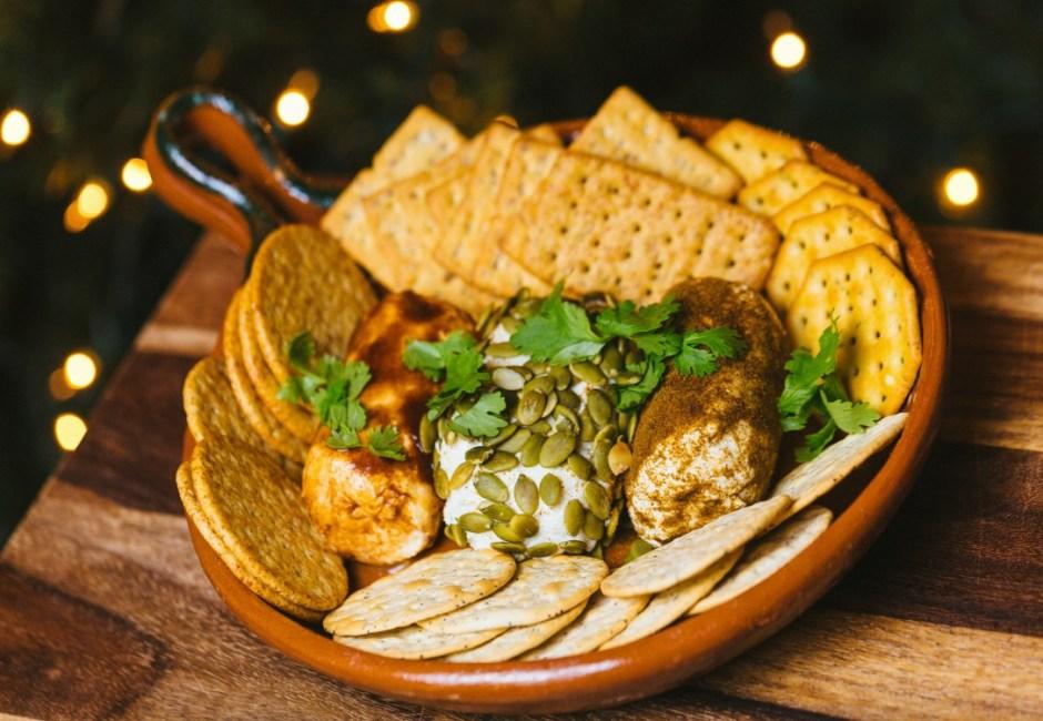 Easy Goat Cheese Appetizer (Pepita, Chipotle, Cumin-Oregano)
