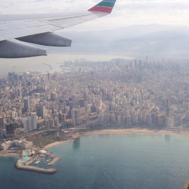 View of Beirut with Movenpick Hotel Beirut in the bottom left