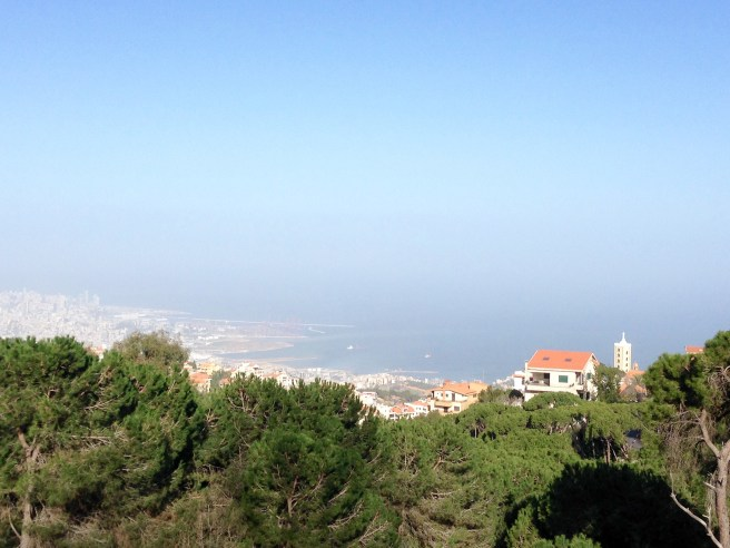 Beirut, as seen from Broummana in Mount Lebanon