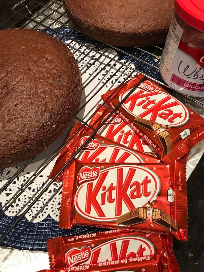 Chocolate Candy Box Cake Made With Kit Kat Border