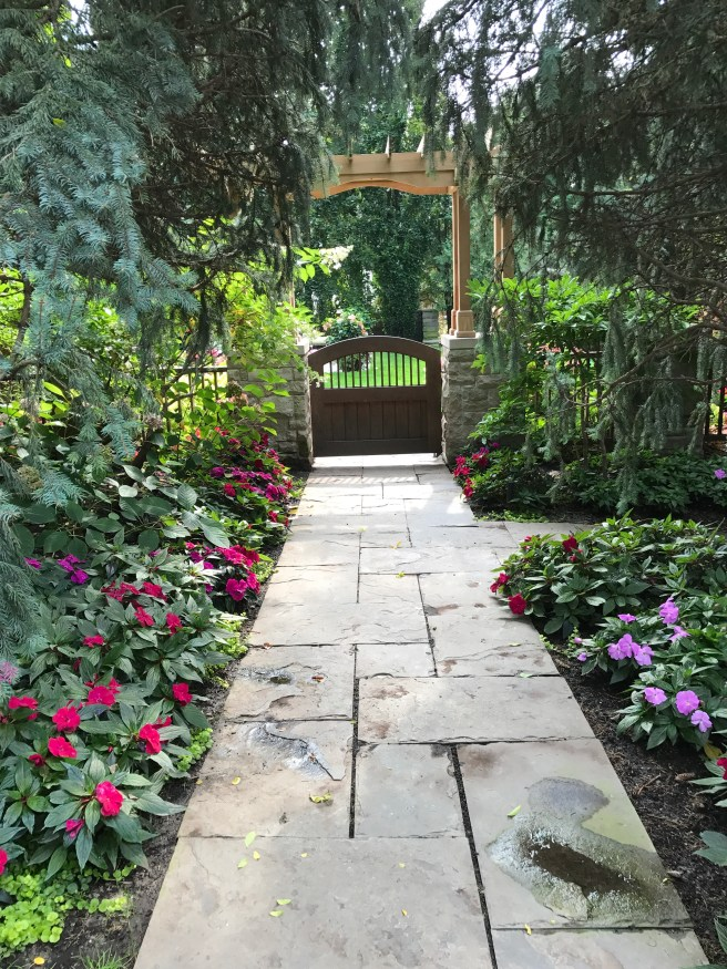 Quiet Toronto side gardens