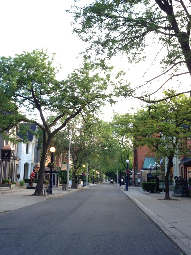 Yorkville on a quiet Sunday morning